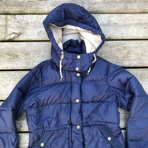 Burton Jackets & Coats - Burton navy zip up hooded puffer jacket